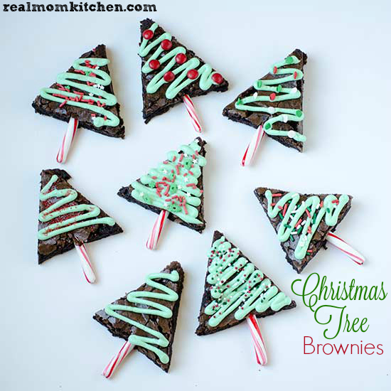 Christmas Tree Brownies | realmomkitchen.com