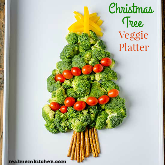 Christmas Tree Veggie Platter | Real Mom Kitchen