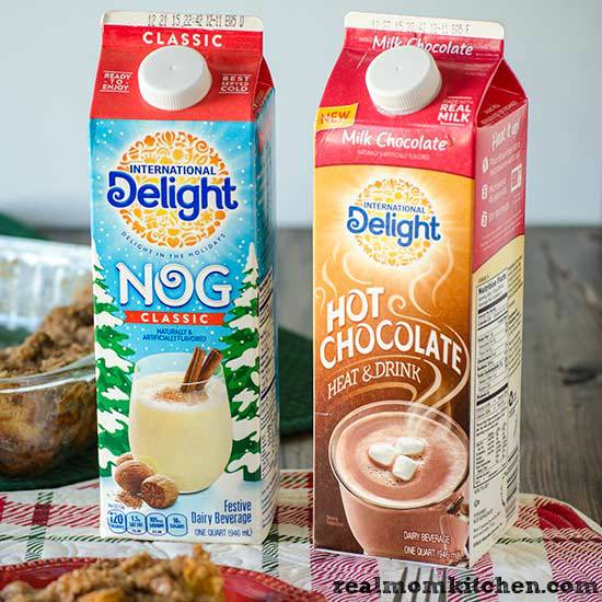 International Delight Classic Nog and Hot Chocolate | realmomkitchen.com