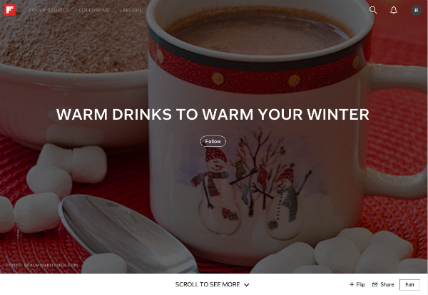 Warm Drinks Flipboard | realmomkitchen.com
