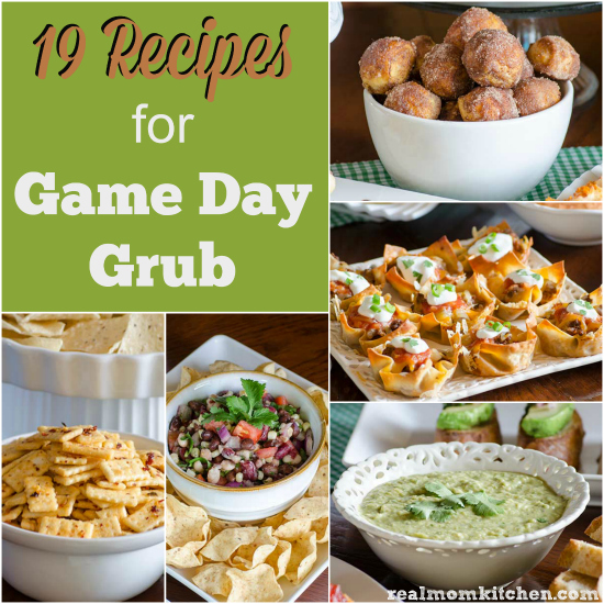 19 Recipes for Game Day Grub | realmomkitchen.com