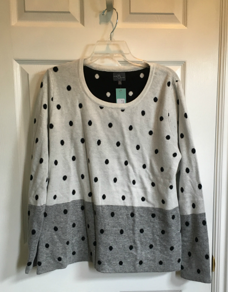 23-dot sweater | realmomkitchen.com