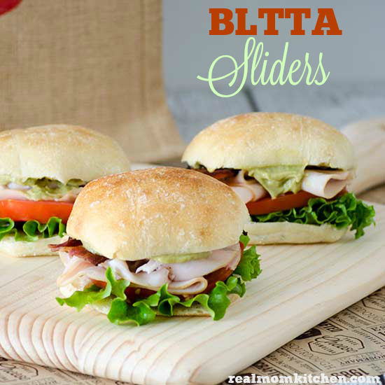 BLTTA Sliders | realmomkitchen.com #SnackOn