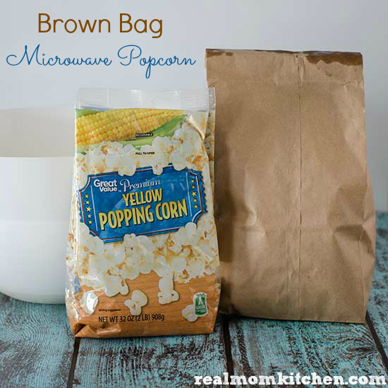 Brown Bag Microwave Popcorn | realmomkitchen.com