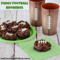 Fudgy Football Brownies | realmomkitchen.com