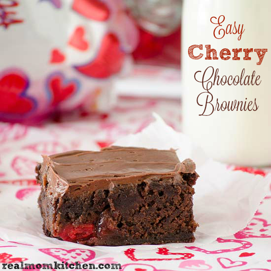 Easy Cherry Chocolate Brownies | Real Mom Kitchen