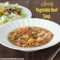 Speedy Vegetable Beef Soup | realmomkitchen.com