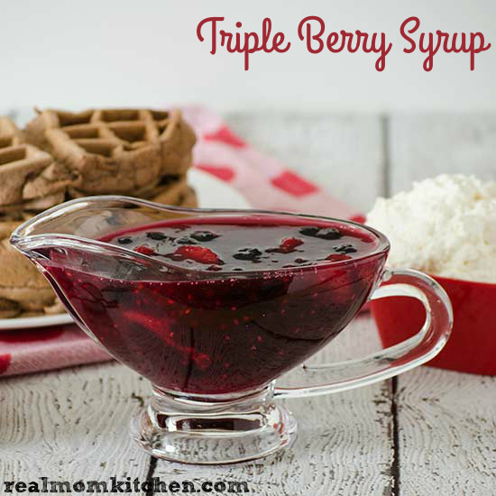 Triple Berry Syrup | realmomkitchen.com