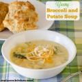 Creamy Broccoli and Potato Soup labeled