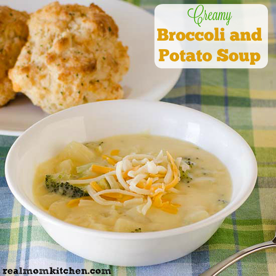 Creamy Broccoli and Potato Soup and Deals to Meals | Real Mom Kitchen
