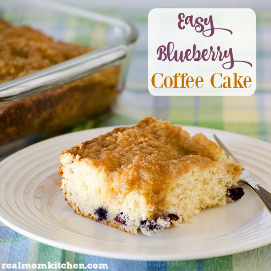 Easy Blueberry Coffee Cake | realmomkitchen.com