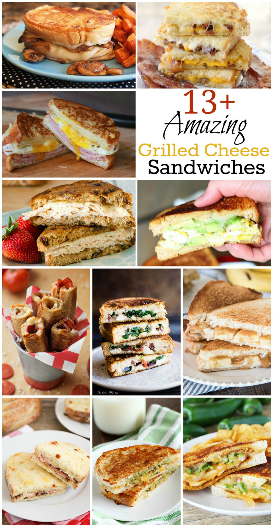 Amazing Grilled Cheese Sandwiches | realmomkitchen.com #NationalGrilledCheeseDay