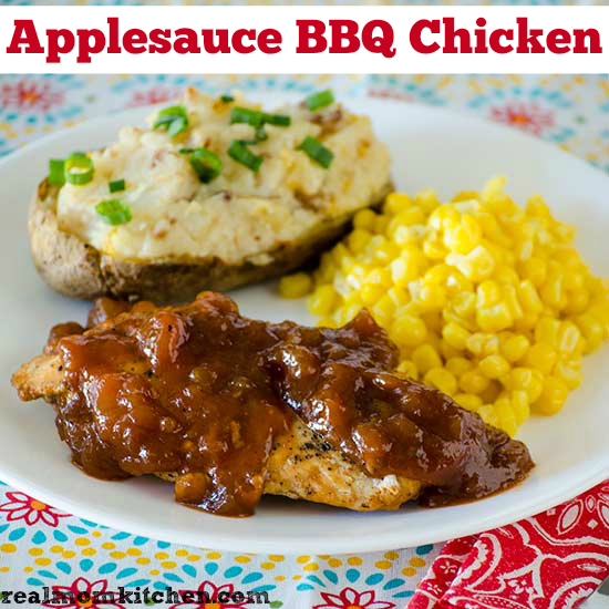 Applesauce BBQ Chicken | realmomkitchen.com