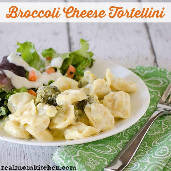 Broccoli Cheese Tortellini | realmomkitchen.com