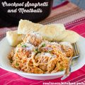 Crock Pot Spaghetti and Meatballs | realmomkitchen.com
