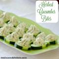 Herbed Cucumber Bites | realmomkitchen.com