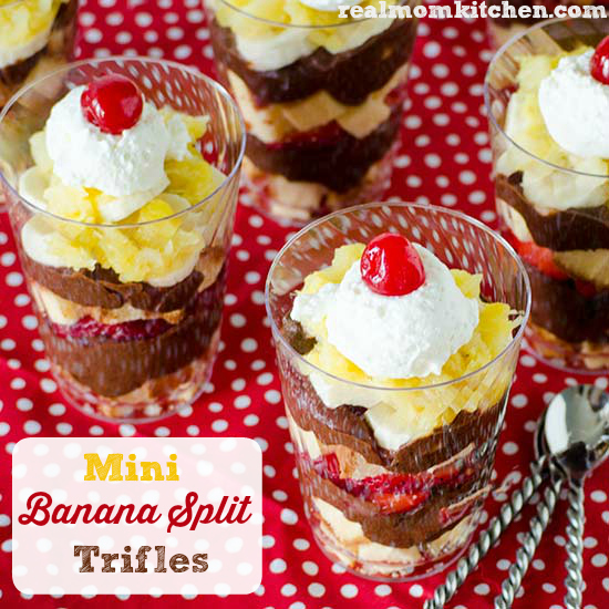 Mini Real Food Kitchen: Mini Banana Split Trifles