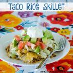 Taco Rice Skillet | realmomkitchen.com