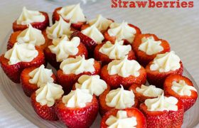 Cheesecake Filled Strawberries | realmomkitchen.com