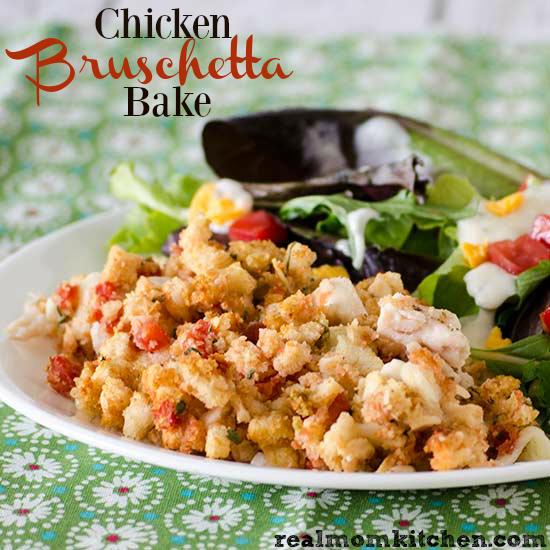 chicken bruschetta bake ingredients 4 cups of diced cooked chicken ...