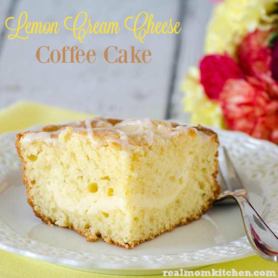 Lemon Cream Cheese Coffee Cake | realmomkitchen.com