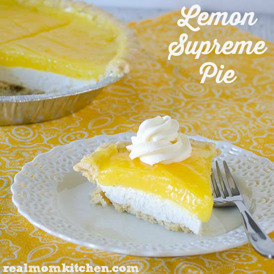 Lemon Supreme Pie | realmomkitchen.com