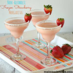Non-Alcoholic Frozen Strawberry Margaritas | realmomkitchen.com