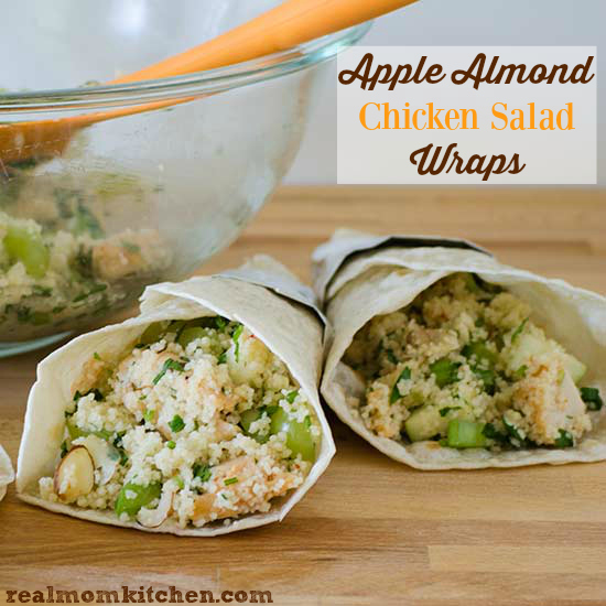 Apple Almond Chicken Salad Wrap | realmomkitchen.com