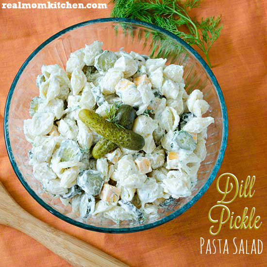 Dill Pickle Pasta Salad   realmomkitchen.com