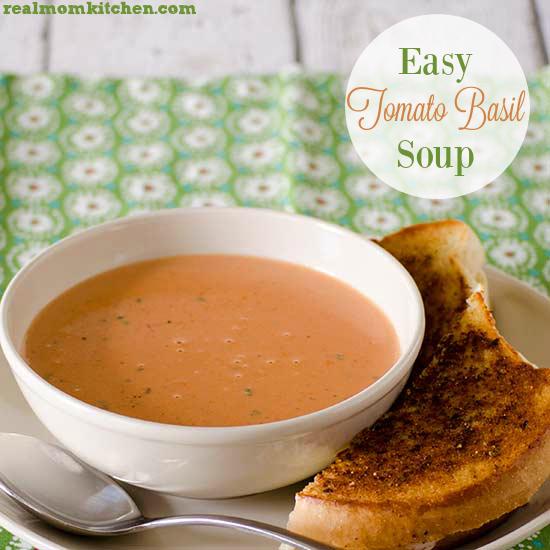 Easy Tomato Basil Soup | realmomkitchen.com