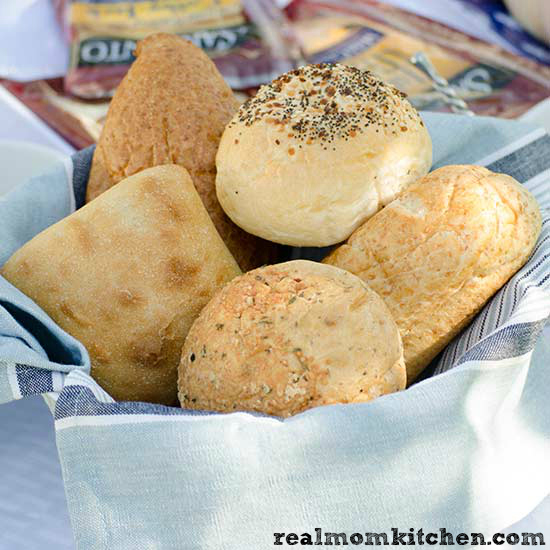 How to Host a Sandwich Bar - rolls | realmomkitchen.com