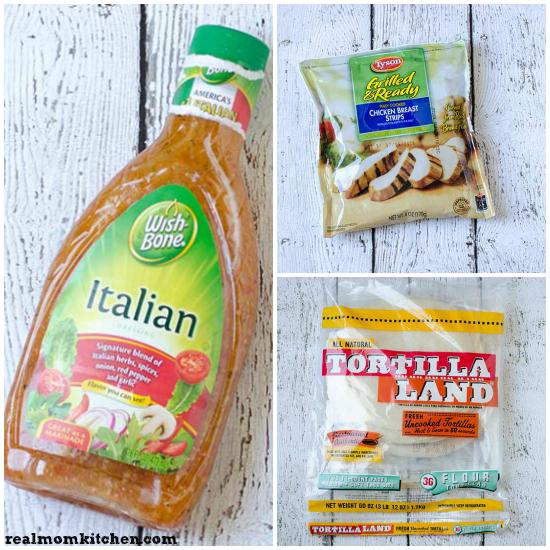 Bruschetta Chicken Salad Wraps | realmomkitchen.com • #WrapUpSummerGoodness