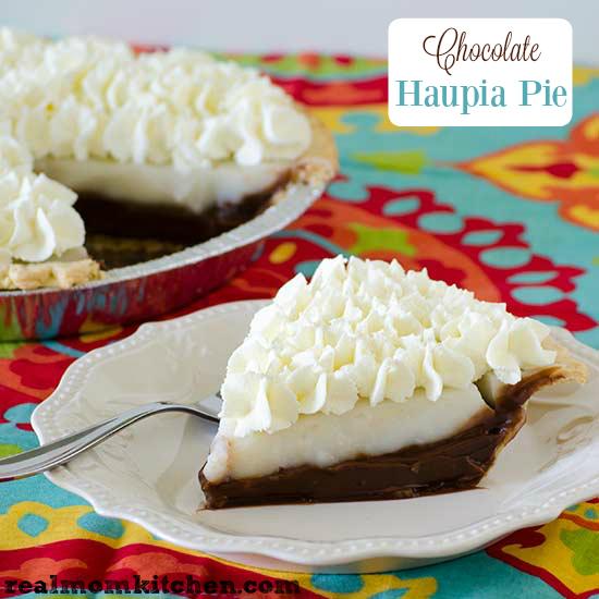 Chocolate Haupia Pie   realmomkitchen.com