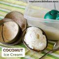 Coconut Ice Cream | realmomkitchen.com