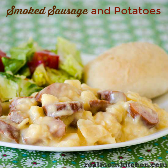 Smoked Sausage and Potatoes | realmomkitchen.com