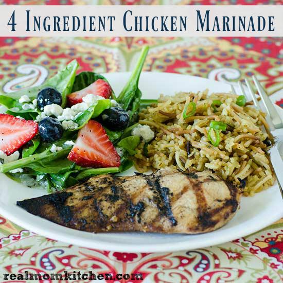 4 Ingredient Chicken Marinade | realmomkitchen.com