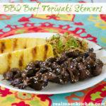 BBQ Beef Teriyaki Skewers | realmomkitchen.com