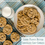 Chewy Peanut Butter Chocolate Chip Cookies | realmomkitchen.com #nationalchocolatechipcookieday