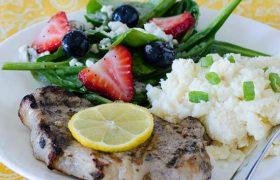 Grilled Lemon Basil Pork Chops | realmomkitchen.com