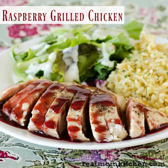 Raspberry Grilled Chicken   realmomkitchen.com