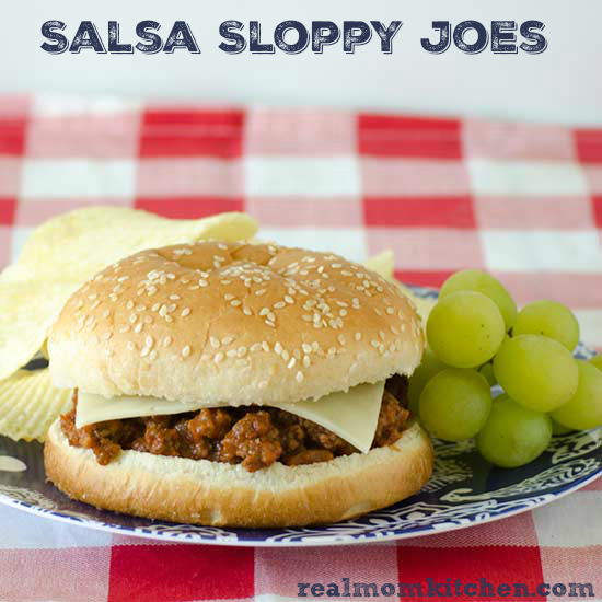 Salsa Sloppy Joes | realmomkitchen.com