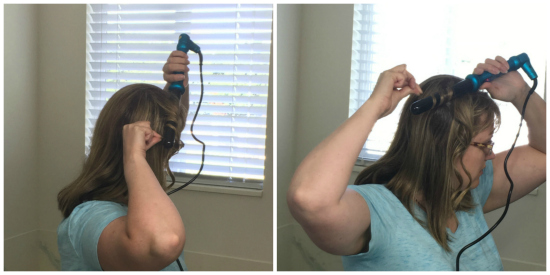 Using the NuMe Curling Wand   realmomkitchen.com