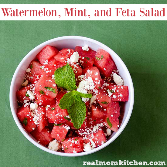 Watermelon Mint and Feta Salad | realmomkitchen.com