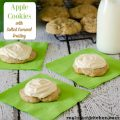 Apple Cookies with Salted Caramel Frosting | realmomkitchen.com