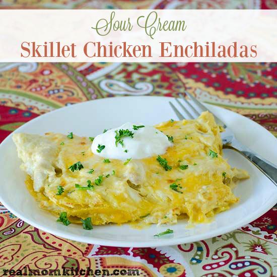 Sour Cream Skillet Enchiladas   realmomkitchen.com