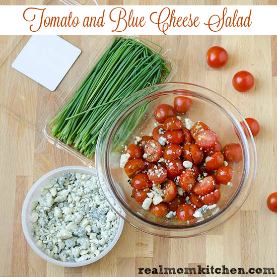 Tomato and Blue Cheese Salad | realmomkitchen.com