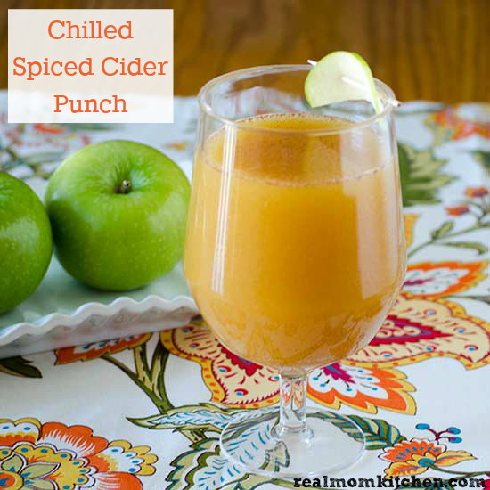 Chilled Spiced Cider Punch | realmomkitchen.com