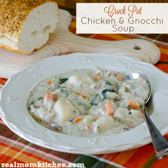 Crock Pot Chicken and Gnocchi Soup   realmomkitchen.com