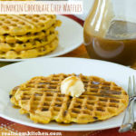 Pumpkin Chocolate Chip Waffles | realmomkitchen.com