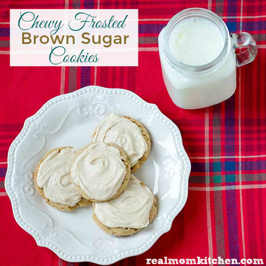 Real Mom Kitchen: Chewy Frosted Brown Sugar Cookies